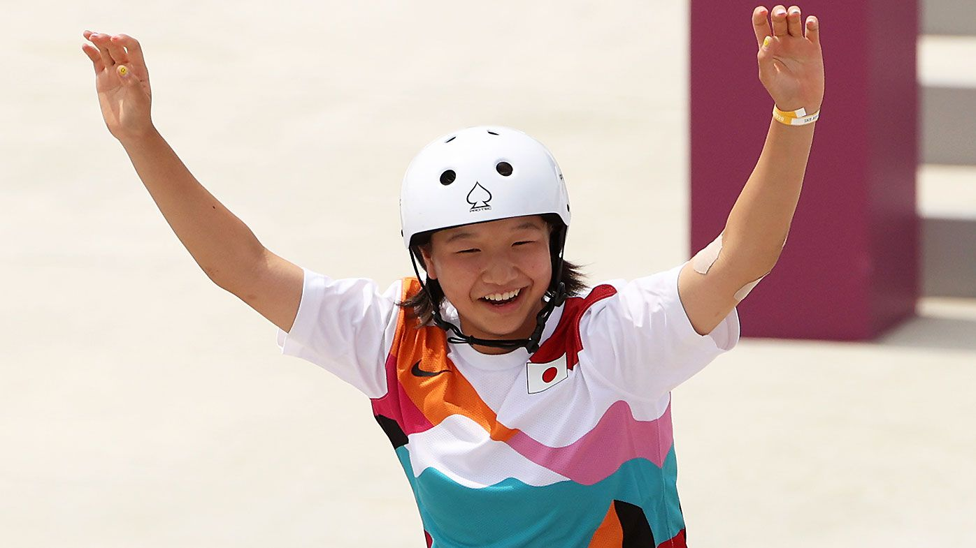 Japanese skateboarder becomes fourth youngest Olympics gold medal winner in history