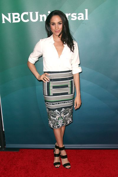 Meghan Markle at the NBC/Universal 2014 TCA Winter Press Tour in Los Angeles