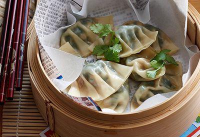 "Recipe: <a href=""/recipes/iprawn/8350372/steamed-prawn-and-watercress-dumplings"" target=""_top"">Steamed prawn dumplings</a>"