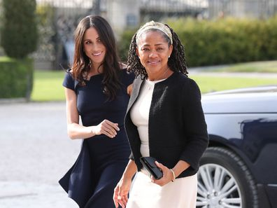 Meghan Markle with mum Doria Ragland before wedding