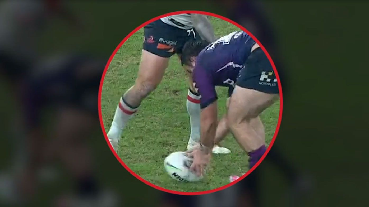 The match-deciding knock-on that everyone missed in Storm vs Roosters cliffhanger