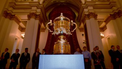The coveted William Webb Ellis Cup the Wallabies are hoping to snare again. (Getty)