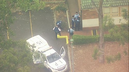 A man was arrested at a school on Kurrajong Road, Prestons on the day.