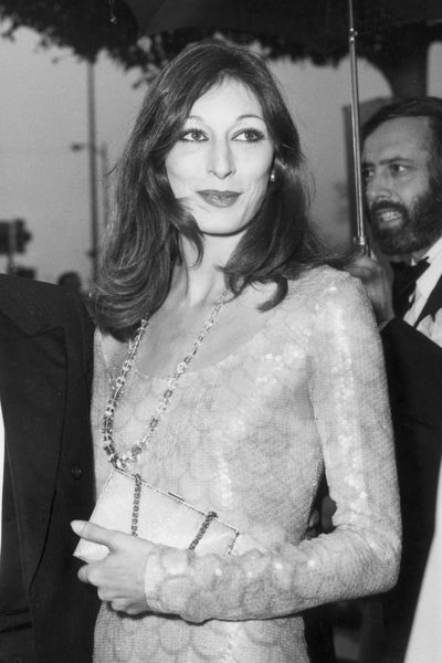 The power of defined cheekbones, as demonstrated by Angelica Huston in 1976.