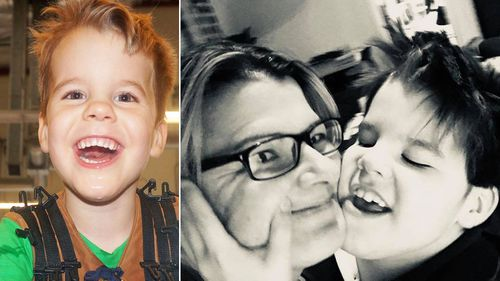 Archer Johnson, who has just started taking cannabis oil for his epilepsy, and with his mother Lisa (right).