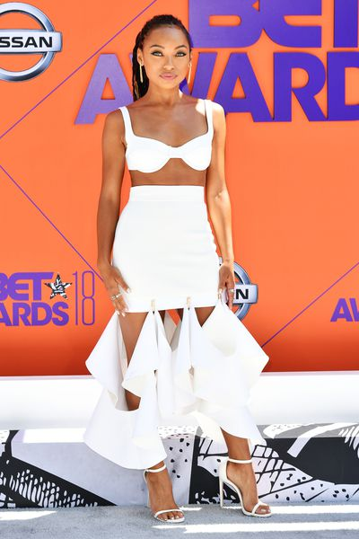 Actress Logan Browning at the 2018 BET Awards