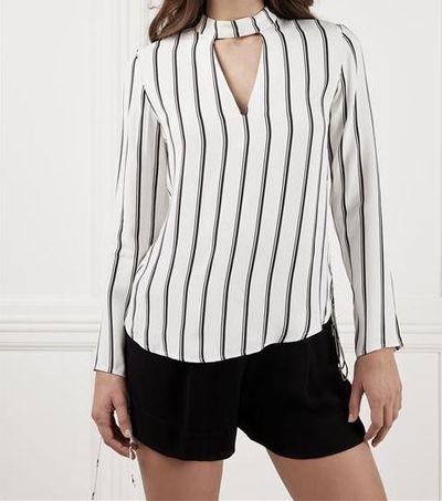 "<a href=""https://www.bardot.com/bardot/merchandising/by-category/tops/long-sleeve-tops1/romy-lace-up-top"" target=""_blank"">Bardot Romy Lace Up Top, $99.95</a>"