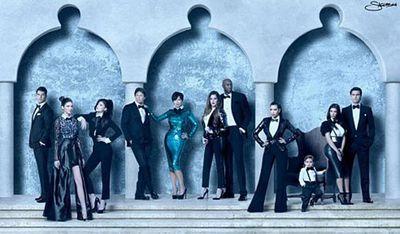 The Kardashians' 2011 Christmas card was a frosty affair!