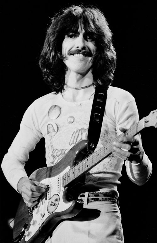 George Harrison performs in a concert in Landover. (AAP)