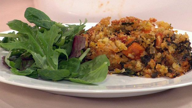 Curried vegetable rice bake