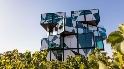 The d'Arenberg Cube was designed like a Rubix cube, to reflect the complex and puzzling nature of wine making