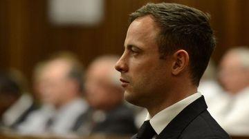 Oscar Pistorius is sentenced on October 21, 2014. (Getty)