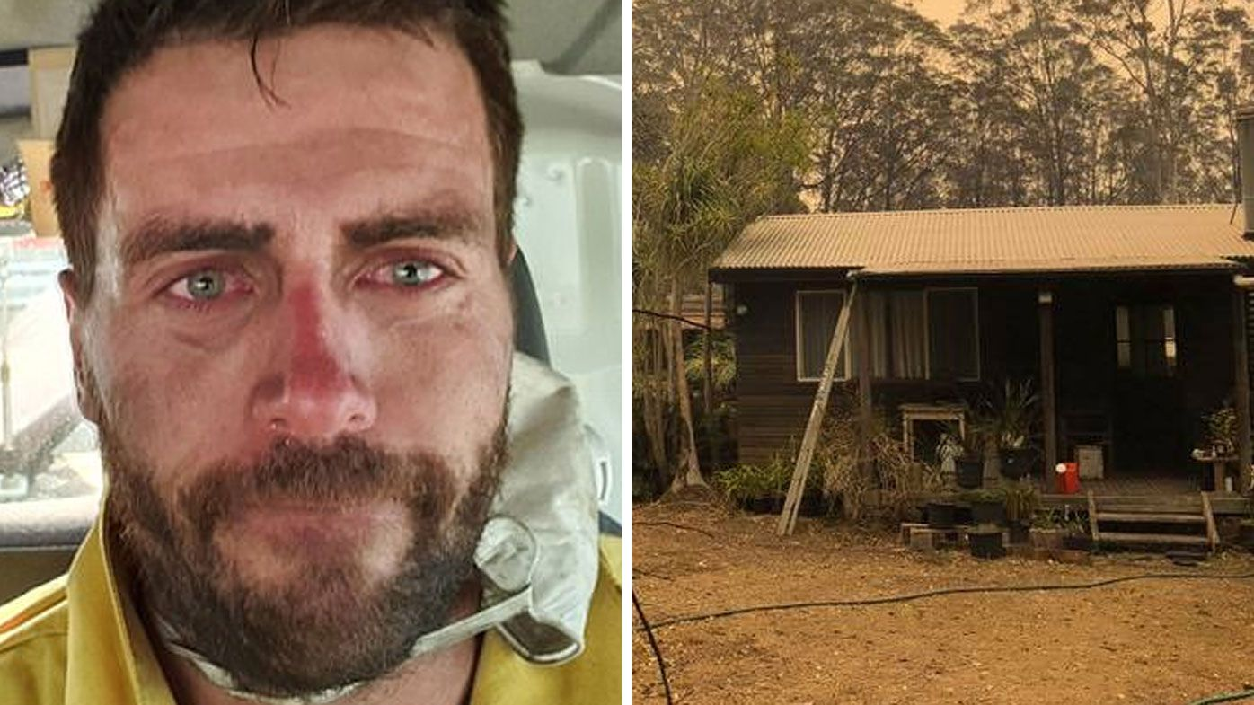 NSW firefighters leave humble note on kitchen bench