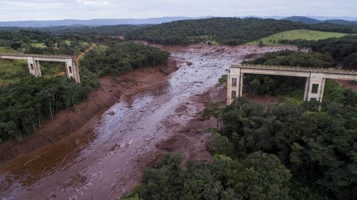 Vale workers were eating lunch on Friday afternoon when the dam collapsed, unleashing a sea of reddish-brown mud.