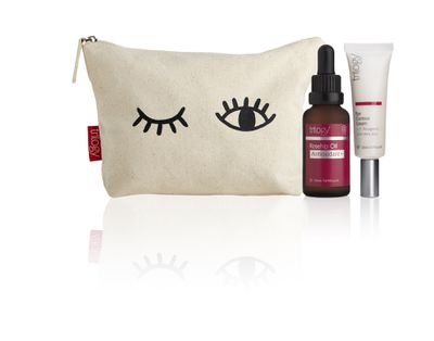 "<strong><em>The ultimate feel-good pack for your eyes that comes in the sweetest of beauty pouches</em></strong> - <a href="" Trilogy Limited Edition Eye-Love-You Gift Pack, $39.95"" target=""_blank"" draggable=""false"">Trilogy Limited Edition Eye-Love-You Gift Pack, $39.95</a><br> <br>"