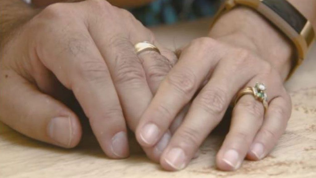 the rare ring right has diamonds which shine green with sheila admitting she was devastated to have lost it - Lost Wedding Ring
