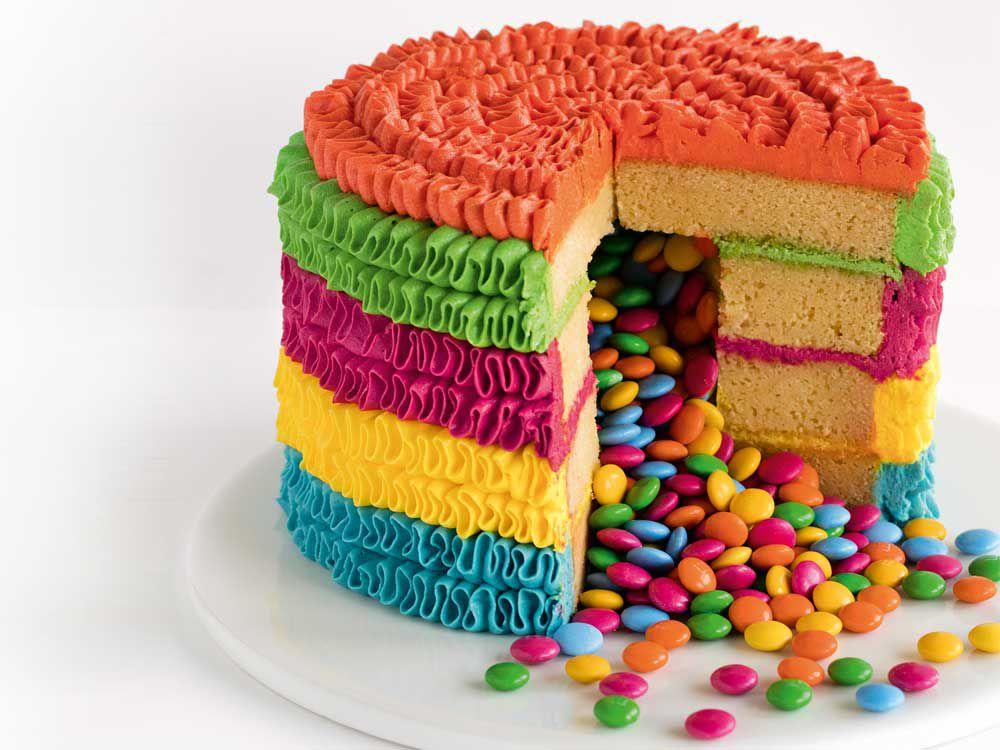Pinata surprise birthday cake