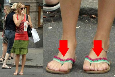 According to Hollywood folklore, Kate Hudson has six toes on each foot. There are a number of photos to back this rumour up, but then again there are plenty of photos where it looks like she has just five! Our theory: Kate's just got funny feet. (And probably only five toes).