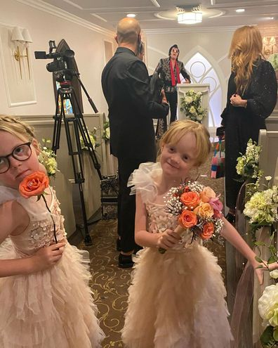 Lily Allen shares photos of daughters Ethel and Marnie taken at their Las Vegas wedding in September 2020.