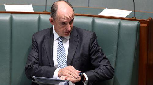 Stuart Robert in parliament. (AAP)