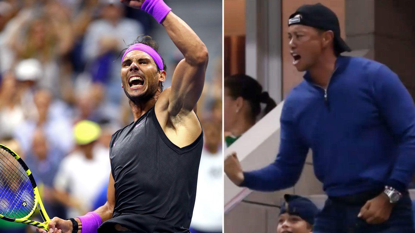 Rafael Nadal had Tiger Woods on his feet