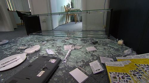 """Heartless"": Laptops and assistance watches were stolen in the smash-and-grab."