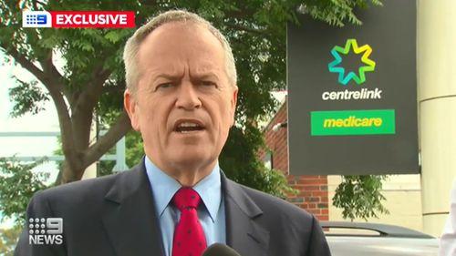Bill Shorten talking about centrelink closures