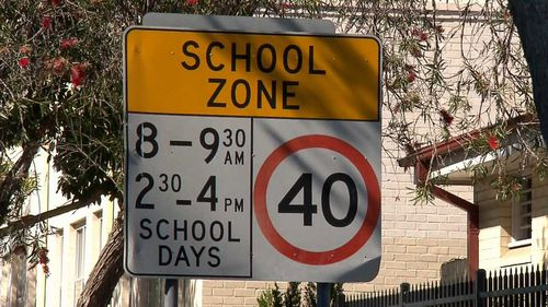 The collision took place right near a school in Neutral Bay.