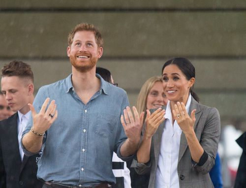 But the Royals could see the funny side - and told the locals the rain was a gift.