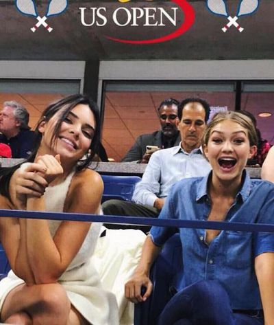 10. Silliness at the tennis with model mate Gigi Hadid.