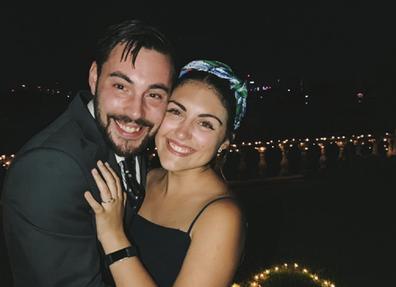 COVID wedding couple proposal