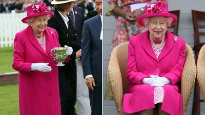 Queen Elizabeth attends the polo, June 2019