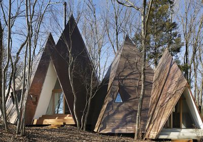 Tipi-shaped house by Nap Architects