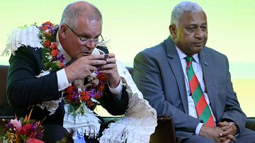Fijian Prime Minister Frank Bainimarama has warned Scott Morrison that he needs to change his stance on climate change.
