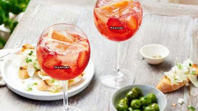 "Recipe:<a href=""https://kitchen.nine.com.au/2016/05/04/15/34/rosato-spritz-spiced-vermouth-cocktail"" target=""_top"">Rosato spritz spiced vermouth cocktail</a>"