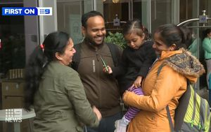 Mum finally meets couple who brought daughter home