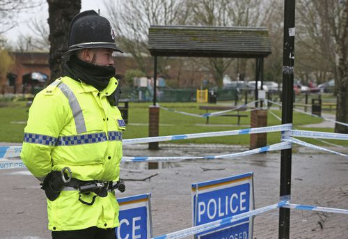 In Salisbury, public spaces remain under police control. (AAP)