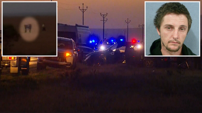 Manhunt ends with 'fugitive gunman' arrested after two-car crash