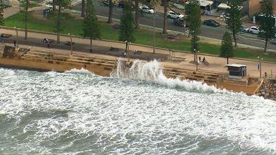 Wild swell on Sydney's Northern Beaches