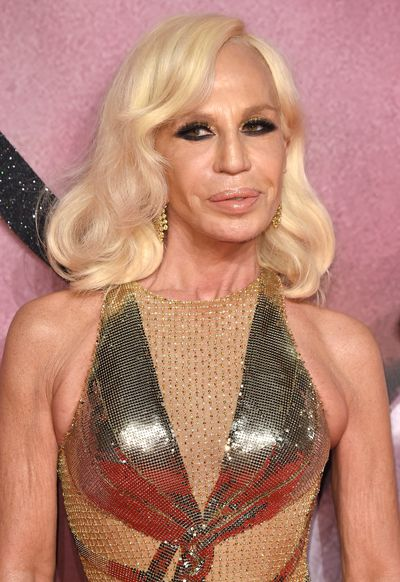 Donatella Versace at the Fashion Awards this month. Donatella is the creative director of Versace.