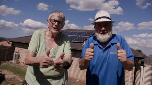 Carole and Rob Pilkington have been able to have the air-conditioning and heater running without running up huge bills.