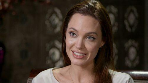 Angelina Jolie speaks to Nine's Entertainment Editor Richard Wilkins. (9NEWS)