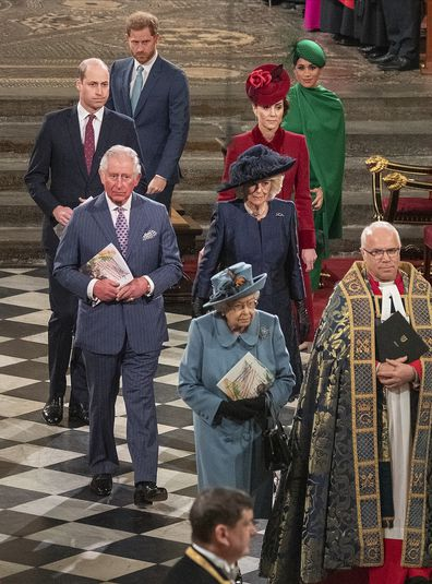The Royal Family at the Commonweatlh Day Service