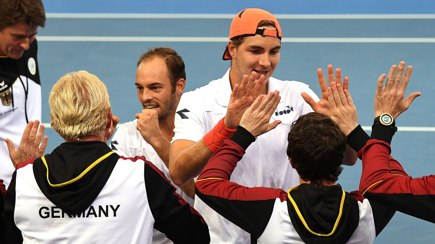 Germany have grabbed a 2-1 Davis Cup lead over the Aussies