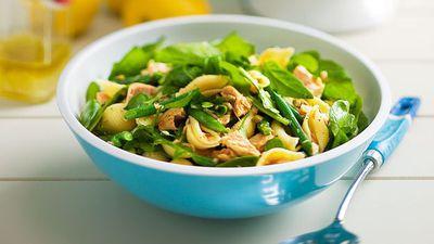 """Recipe:<a href=""""http://kitchen.nine.com.au/2016/05/16/17/37/chilli-tuna-pasta-salad"""" target=""""_top"""">Chilli tuna pasta salad</a>"""