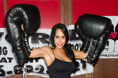 Taking part in a charity boxing match in June 2012, Nadya looked as fit as ever, showing off her impressive guns.