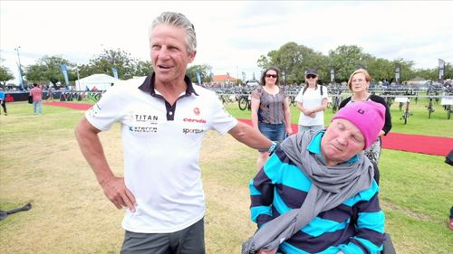 Kevin helped best mate Sid fulfill his dream of completing a triathlon.