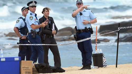 The body of a newborn baby girl was found buried in the sand at Maroubra Beach on Saturday. (9NEWS)