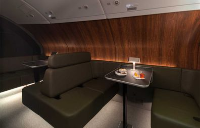 Qantas' upgraded A380 aircraft onboard lounge