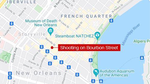 Shooting on Bourbon Street New Orleans
